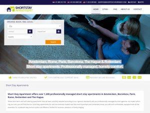 WordPress-gebaseerde shortstay-website met appartementsboekingsapplicatie