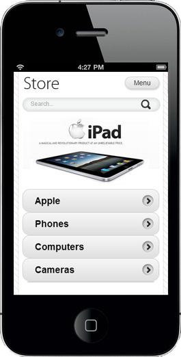Mobiele webshop Magento