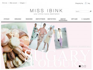 Webshop design Miss Ibink