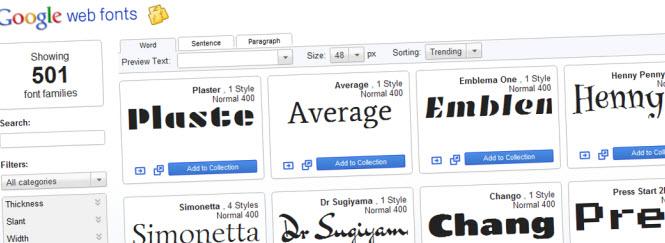 Google Web Fonts - meer lettertypes voor je website