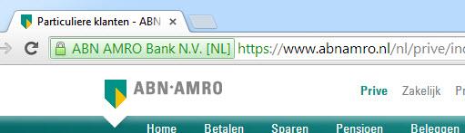 HTTPS-beveiliging ABN Amro website