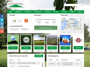Doordachte website voor golfvereniging